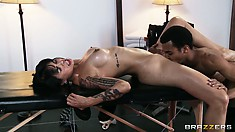 After sucking cock Dana Vespoli gets her wet latina pussy licked