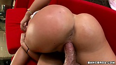 Naughty blonde babe gets the fuck of the century riding his cock like a cowgirl