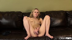 Kelly Klass wants a thick cock to stretch her unused tight cunt