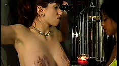 Nasty white slave takes her brutal punishment from Asian mistress