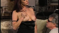Fascinating redhead milf Sativa Rose gets banged by a big black cock