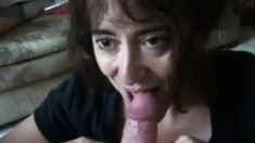 Mature Girl Sucking Small Cock And Swallows